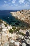 蓝色撒丁岛海运 免版税库存图片