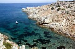蓝色撒丁岛海运 免版税图库摄影