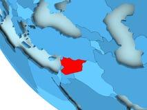 蓝色政治地球的叙利亚 免版税库存图片