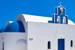 蓝色教会圆顶 免版税图库摄影