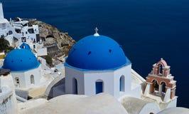 蓝色教会圆顶 免版税库存照片