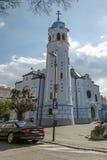 蓝色教会 库存图片
