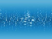 蓝色数字式信息 免版税库存图片