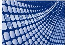 蓝色数字式减速火箭的向量通知 免版税库存图片