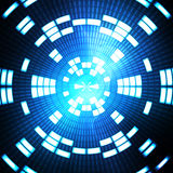 蓝色数字式几何背景 库存照片