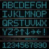 蓝色数字式字体 免版税库存照片