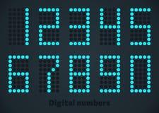 蓝色数字式数字,被加点的样式 编辑可能的大小 免版税库存图片