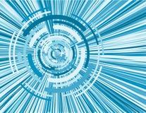 蓝色数字式ima虚拟旋转 免版税图库摄影