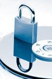 蓝色数据保护色彩 免版税库存照片