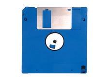 蓝色数据盘磁盘 免版税库存图片