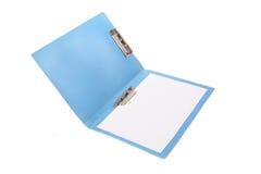 蓝色文件夹 免版税库存照片