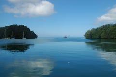 蓝色斐济盐水湖 免版税库存照片