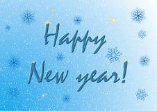 蓝色新年卡片 库存图片