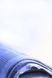 蓝色新闻 免版税图库摄影