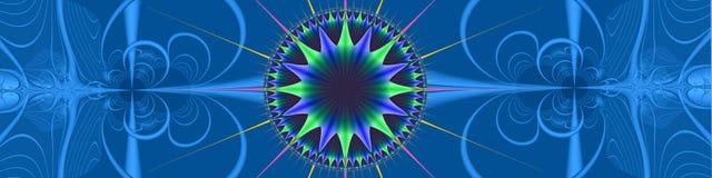 蓝色方向标头 向量例证