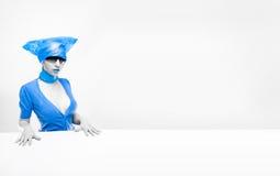 蓝色方式nursey 免版税库存照片