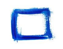 蓝色方形的丙烯酸酯的框架 免版税库存照片