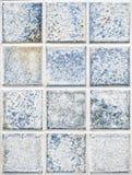 蓝色方形的瓦片 免版税图库摄影