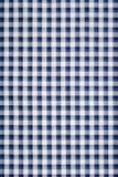 蓝色方格花布布料 免版税库存图片