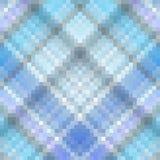 蓝色方格花布摆正了镶嵌构造 库存图片