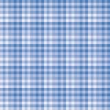 蓝色方格花布样式背景。 免版税库存照片