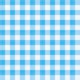 蓝色方格花布模式重复 库存例证