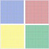 蓝色方格花布绿色红色黄色 免版税库存图片