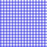 蓝色方格花布 库存例证