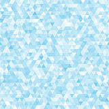 蓝色无缝的三角马赛克背景 库存图片