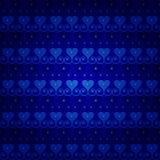 蓝色无缝的传染媒介样式 免版税库存照片