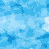 蓝色无缝的传染媒介背景仿制水表面 库存例证