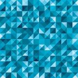 蓝色无缝的几何抽象样式 免版税库存图片