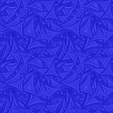 蓝色无缝的弯曲的背景 库存图片