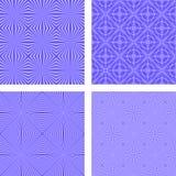 蓝色无缝的样式背景集合 免版税库存图片