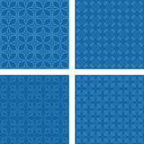 蓝色无缝的样式集合 皇族释放例证