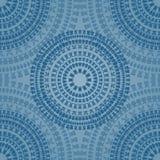 蓝色无缝的样式 免版税库存照片