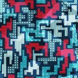 蓝色无缝的样式 库存图片