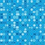 蓝色无缝的正方形 库存照片