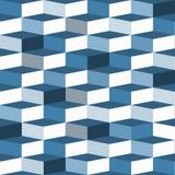 蓝色无缝的箱子样式 免版税图库摄影