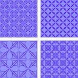 蓝色无缝的背景集合 免版税图库摄影