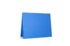 蓝色日历 库存图片