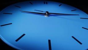 蓝色时钟。时间间隔。 影视素材