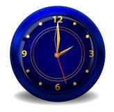 蓝色时钟黑暗 库存图片