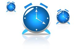 蓝色时钟 免版税库存图片