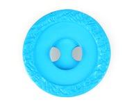 蓝色明亮按钮缝合 免版税库存图片
