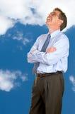 蓝色明亮的企业远期查找天空 免版税库存照片