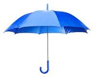 蓝色明亮的伞 免版税库存图片