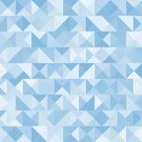 蓝色明亮的抽象三角背景 向量 免版税库存图片