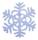 蓝色明亮的接近的雪花 库存图片