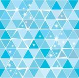 蓝色明亮的模式三角冬天 免版税库存图片